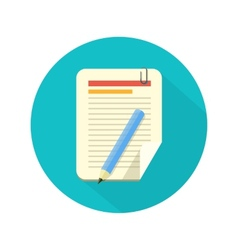 Notebook and pencil icon vector image