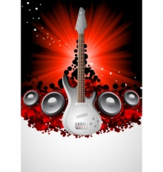 vector music background vector image
