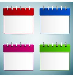 Calendar icon isolated on grey background vector image