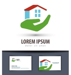 house logo design template building or vector image vector image