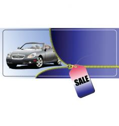 sale car vector image vector image