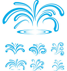 Splash of Sparkling Blue Water Drops vector image vector image