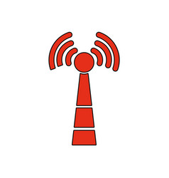 wireless sign vector image