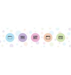 5 url icons vector