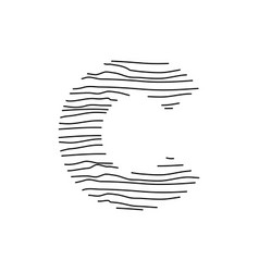 Abstract line initial c vector