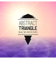 Abstract pink sunset with purple triangle field vector