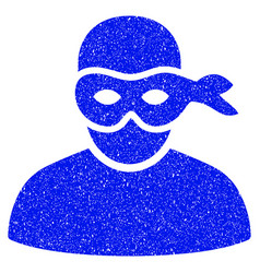 Anonimious thief grunge icon vector