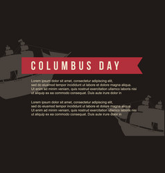 Background for columbus day vector