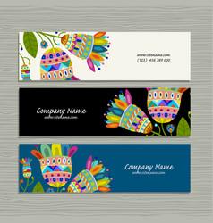 banners design floral background vector image