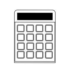 Blank keys calculator icon image vector