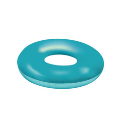Blue swim ring vector