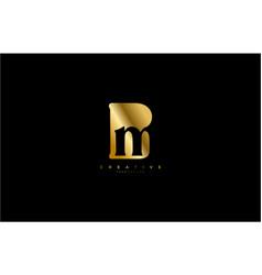 Bm logo simple initial gold color design template vector