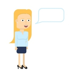 Businesswoman characters smiling isolated vector image