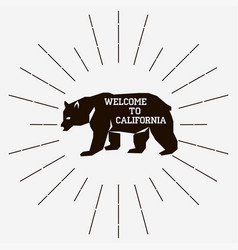 California retro vintage vector