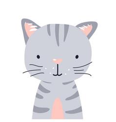 Cat cute animal baface vector