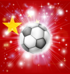 China soccer flag vector
