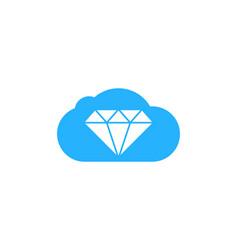 cloud diamond logo icon design vector image