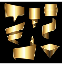 Collection of golden gradient tegs vector image