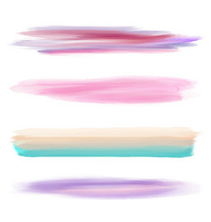 Collection of watercolour brushes vector