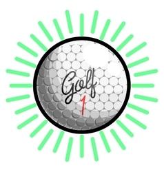 Color vintage golf emblems vector image