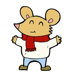 Comic cartoon mouse vector