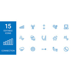 connection icons vector image