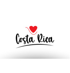 Costa rica country text typography logo icon vector