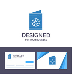 Creative business card and logo template business vector