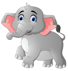 Cute cartoon elephant posing vector image