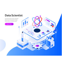 data scientist isometric concept modern flat vector image