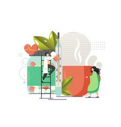 disease treatment flat style design vector image