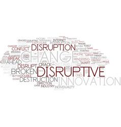 Disruptive word cloud concept vector