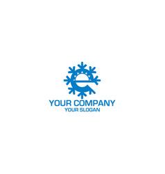 e hvac logo design vector image