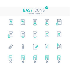 Easy icons 16e docs vector