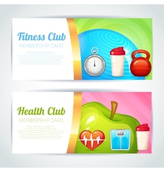 Fitness club card design vector