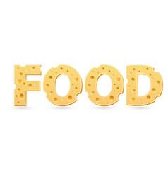 Food word cheese vector