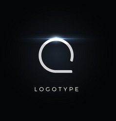 futurism style letter q minimalist type for vector image
