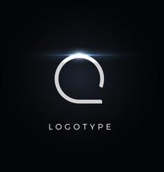 Futurism style letter q minimalist type vector