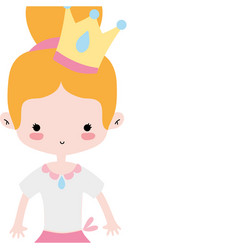 Girl dancing ballet with bun hair with crown vector