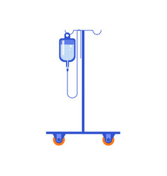 Hanging medical dripper composition vector