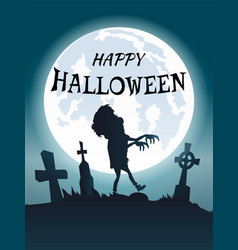 Happy halloween scary congratulation postcard vector