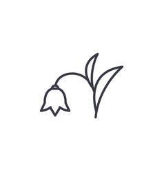 harebell line icon concept harebell flat vector image