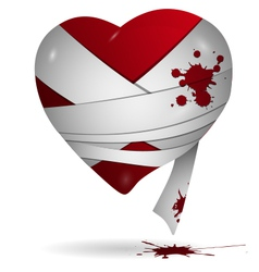 Heart in bandages vector image