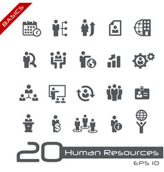 human resources icons - basics vector image