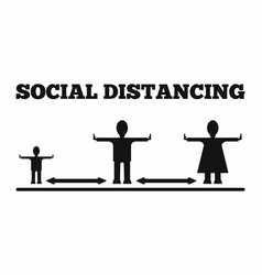 Icons people who keep a distance template vector