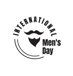 international mens day lettering graphic design vector image
