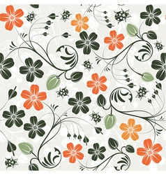 Ladybug floral seamless vector