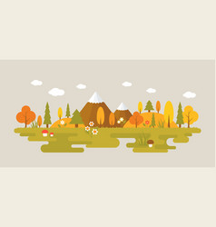 landscape of forest in autumn vector image