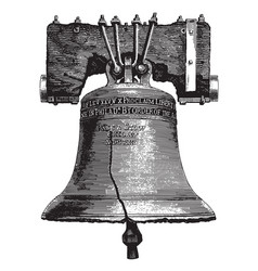 large bell engraving vector image