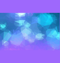 light blue purple low poly crystal background vector image